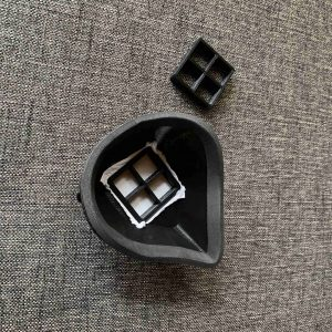 3dprinted covid19 mask with grid